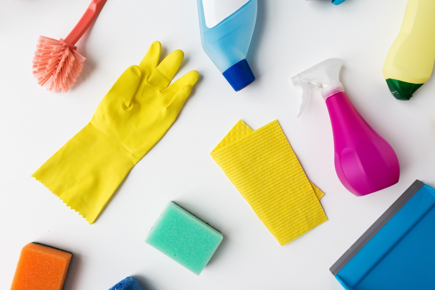 A selection of cleaning products